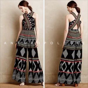 Anthropologie tribal jumpsuit